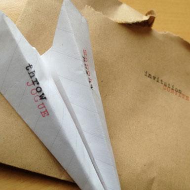 Image of paper aeroplane
