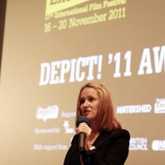 The awards ceremony at Encounters International Film Festival