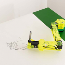 Image of 'Bartleby' robot drawing arm by Juneau Projects