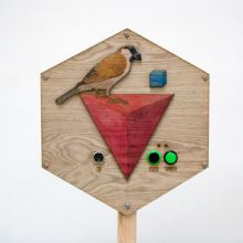 Juneau Projects' Blackbird in Infospace installed at Hive