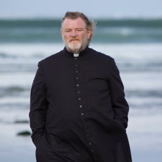 Calvary - priest at the sea