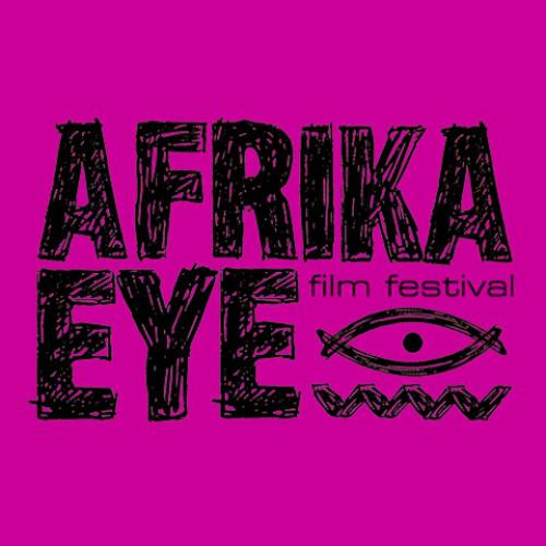 Afrika Eye: logo on pink