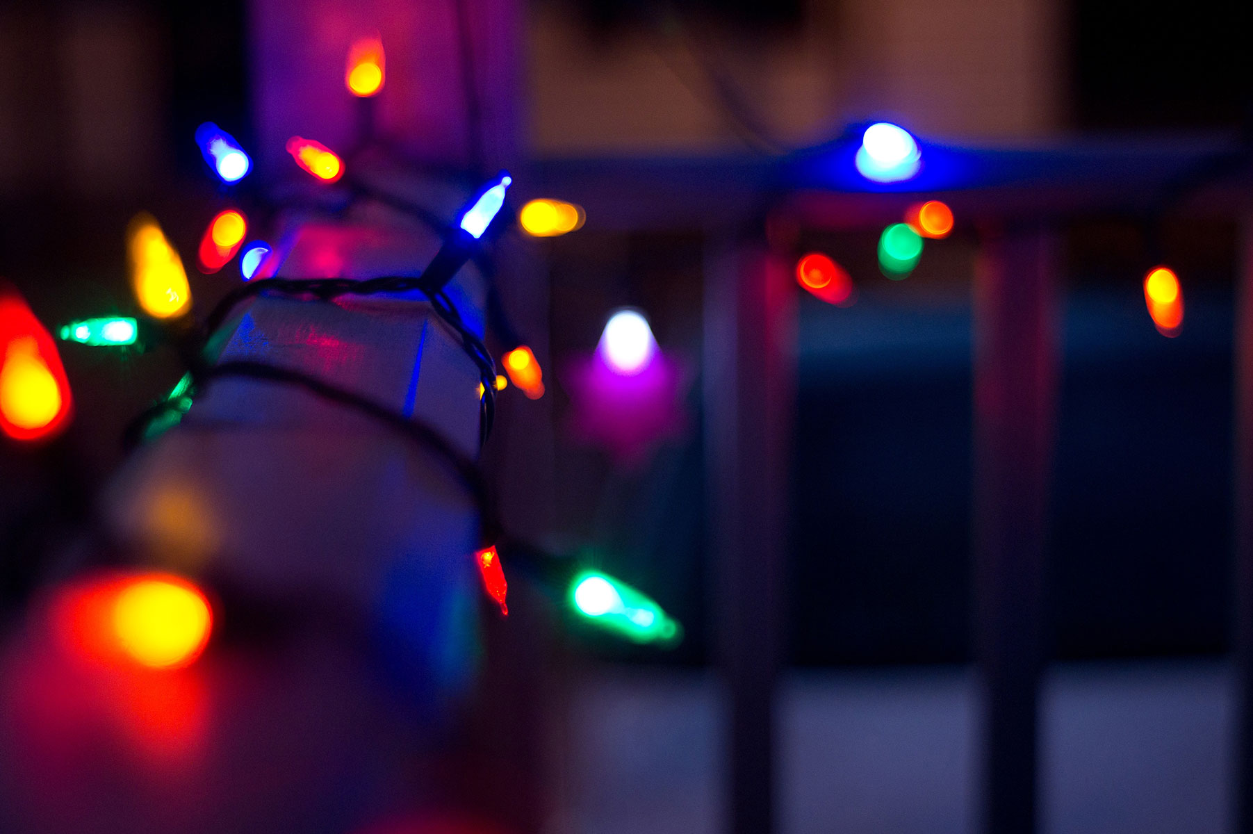 Sparkling christmas lights