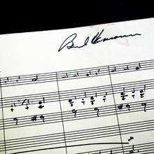 Photo of a Bernard Herrmann score