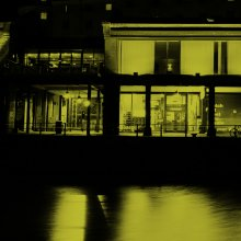 Exterior night time phot of Watershed
