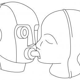 Two heads still from Dane Watkin's LoveMatch