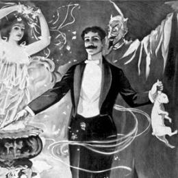 Illustration of a magician