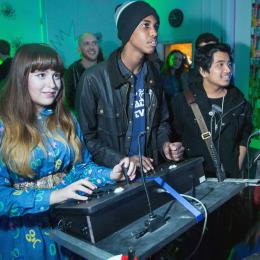 Young people playing games
