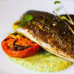 Freshly cooked mackerel at Watershed Café & Bar