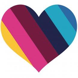 Multi coloured heart