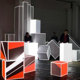 AntiVJ's Light Sculpture at Mapping Festival 2008
