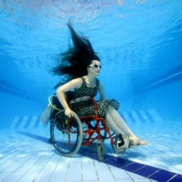 Submerged wheelchair by Sue Austin