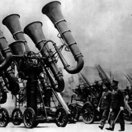Japanese War Tubas - a point of discussion for two of our Studio Residents!