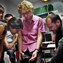 Peter shooting Tea & Sangria with his crew