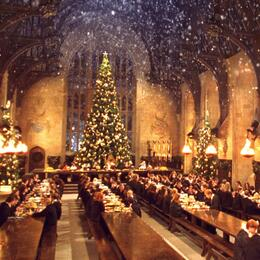 Harry Potter Christmas scene