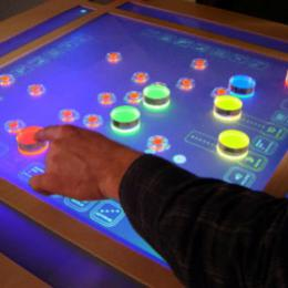 Sound Toys touch screen interface