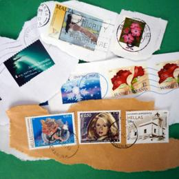 pictures of different European stamps