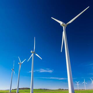 Phot of wind turbines