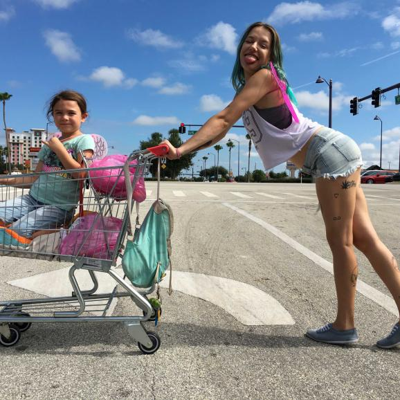 Still from The Florida Project by Sean Baker
