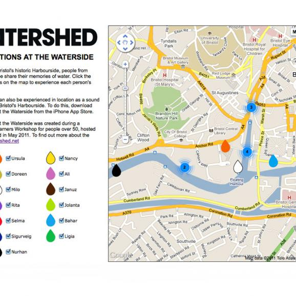 Memories and Mediascapes harbourside map