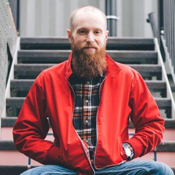 Phot of Luke Emery, Pervasive Media Studio Producer