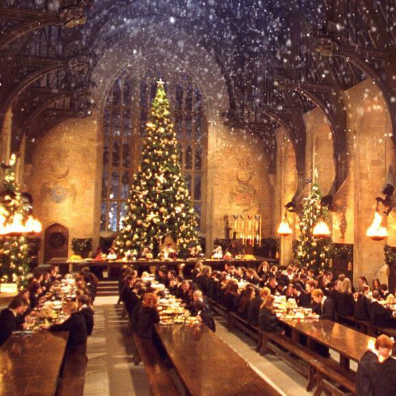 Harry Potter Christmas scene
