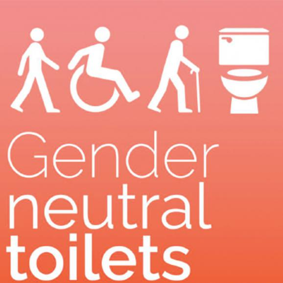 example of sign for gender neutral toilets