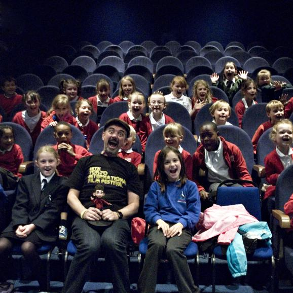 Primary School Children at screening of ParaNorman with director Sam Fell