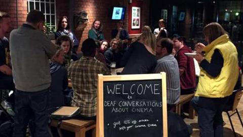 Deaf Conversations About Cinema event in the cafe/bar