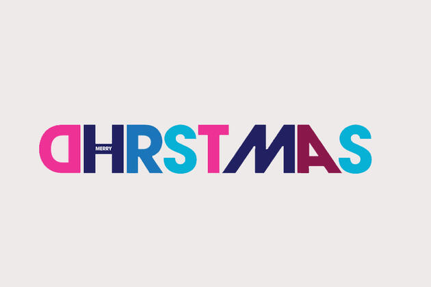 merry Christmas text in Watershed logo letters