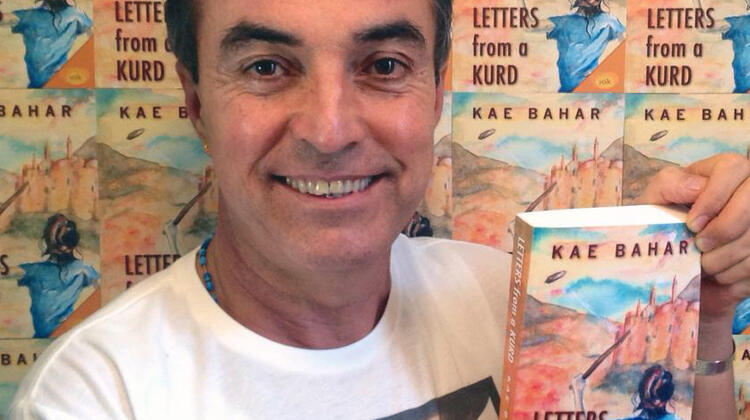 Kae Bahar with his book