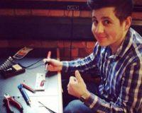 David, tinkering