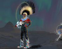 Afronaut Femi as imagined by Drojan Visuals