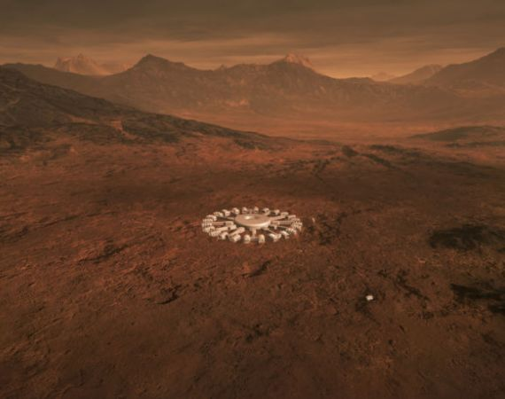 Concept design for Building A Martian House by Hugh Broughton Architects