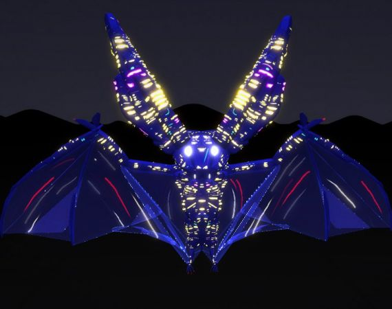 A neon bat