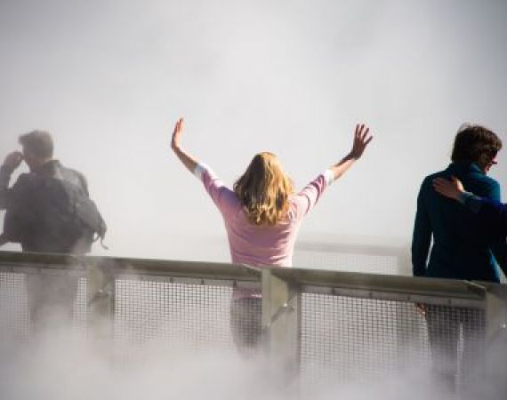 Photo by Gayle Laird: Fujiko Nakaya - Fog Bridge