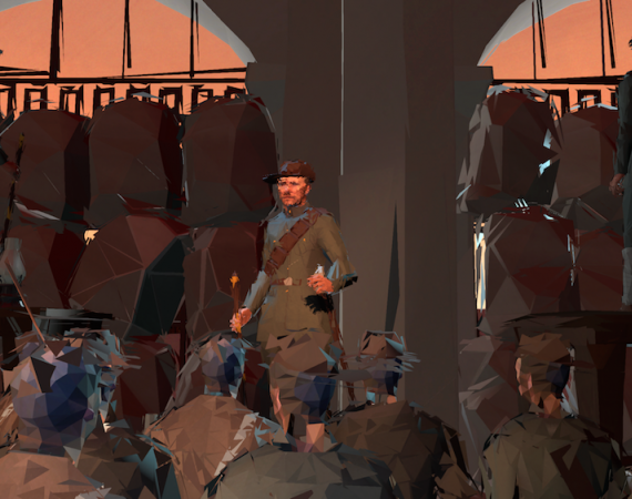 Image from VR project Easter Rising: Voice of a Rebel