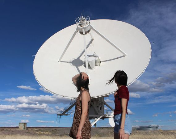 Ella and Nicki at the VLA, New Mexico