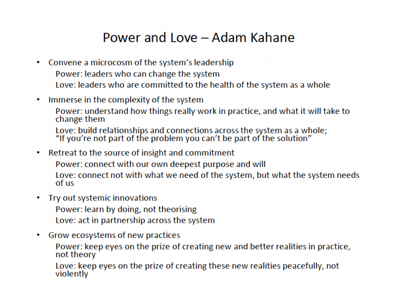 Love and Powe, Adam Kahane