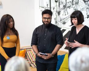 Euella Jackson, Shamil Ahmed & Sammy Jones at Pervasive Media Studio